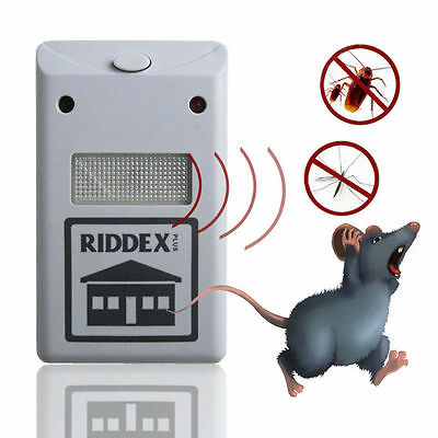 White High Quality Ultrasonic Riddex Plus Electronic Pest Rodent Repeller 220V