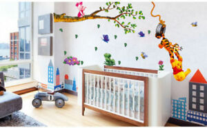 Image Is Loading Winnie The Pooh Wall Stickers Nursery Boy Kid