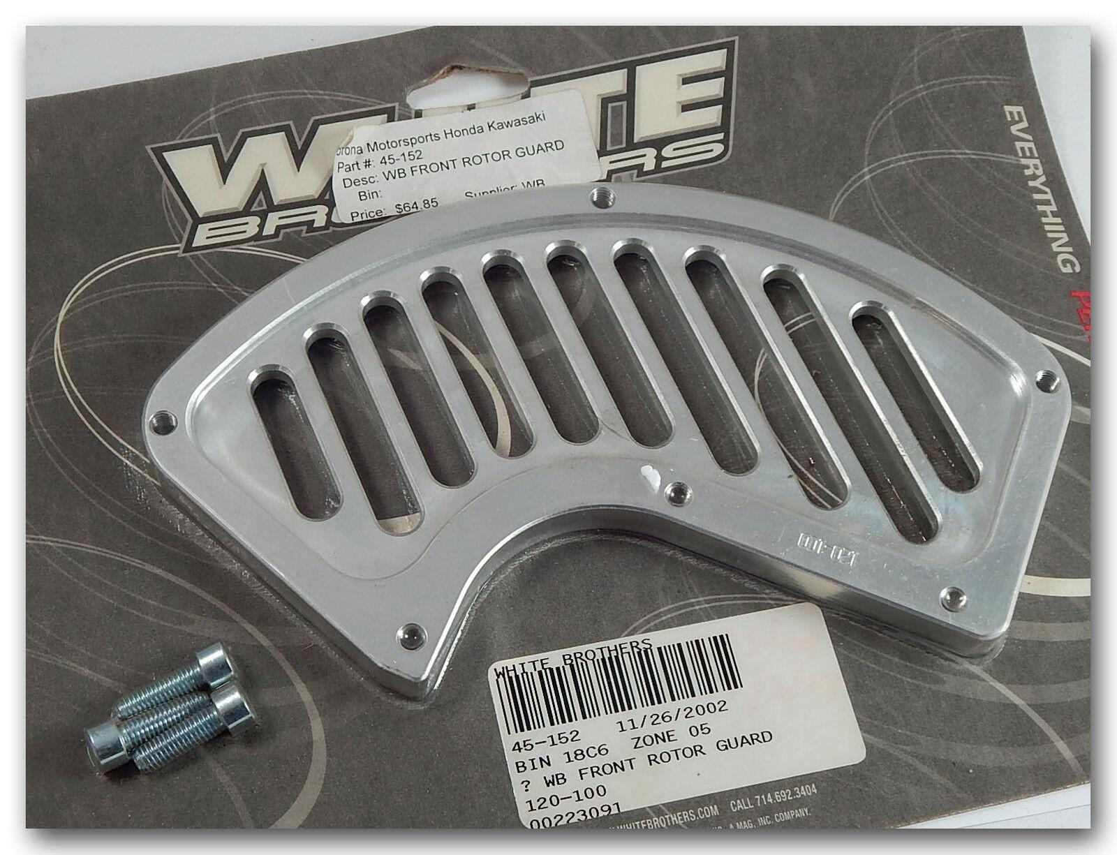Weiß Brothers Schlitz Aluminium Vordere Bremsscheibe Rotor Schutz 120 100 45