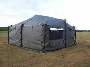 Image is loading MILITARY-M-G-P-T-S-18-039-X-18-039-Small- & MILITARY M.G.P.T.S. 18u0027 X 18u0027 Small Modular General Purpose Tent ...