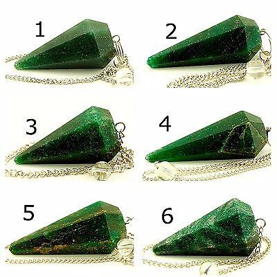YOU CHOOSE! A Green Quartz Stone Pendulum Reiki//Chakra//Metaphysical