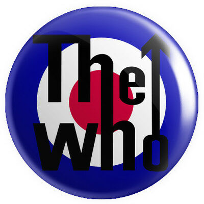 The Who BUTTON PIN BADGE 25mm 1 INCH Mod Red White Blue Logo