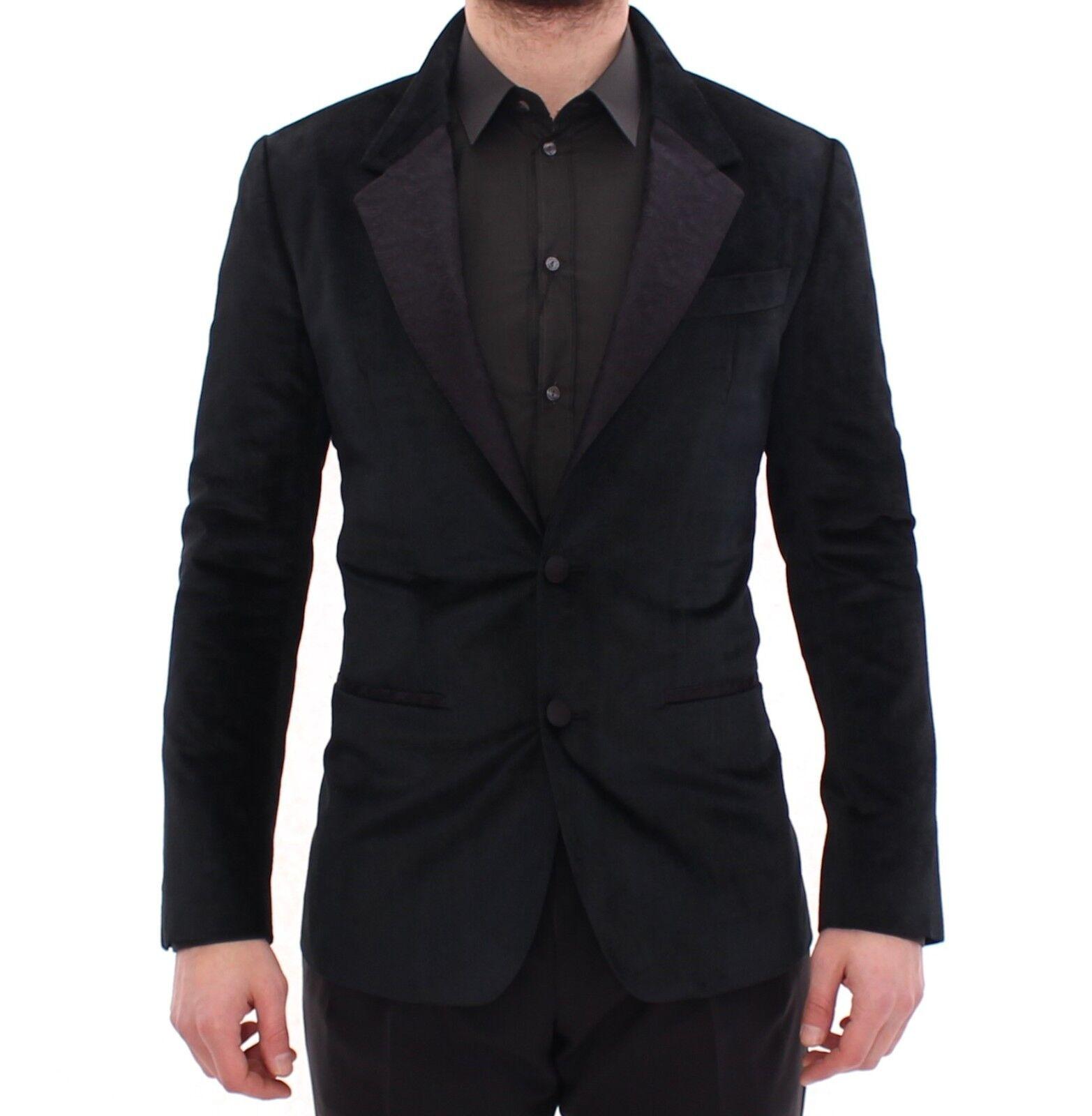 Nuevo con Etiqueta Dolce & Gabbana Negro 2 Botones Ajustado Chaqueta Americana
