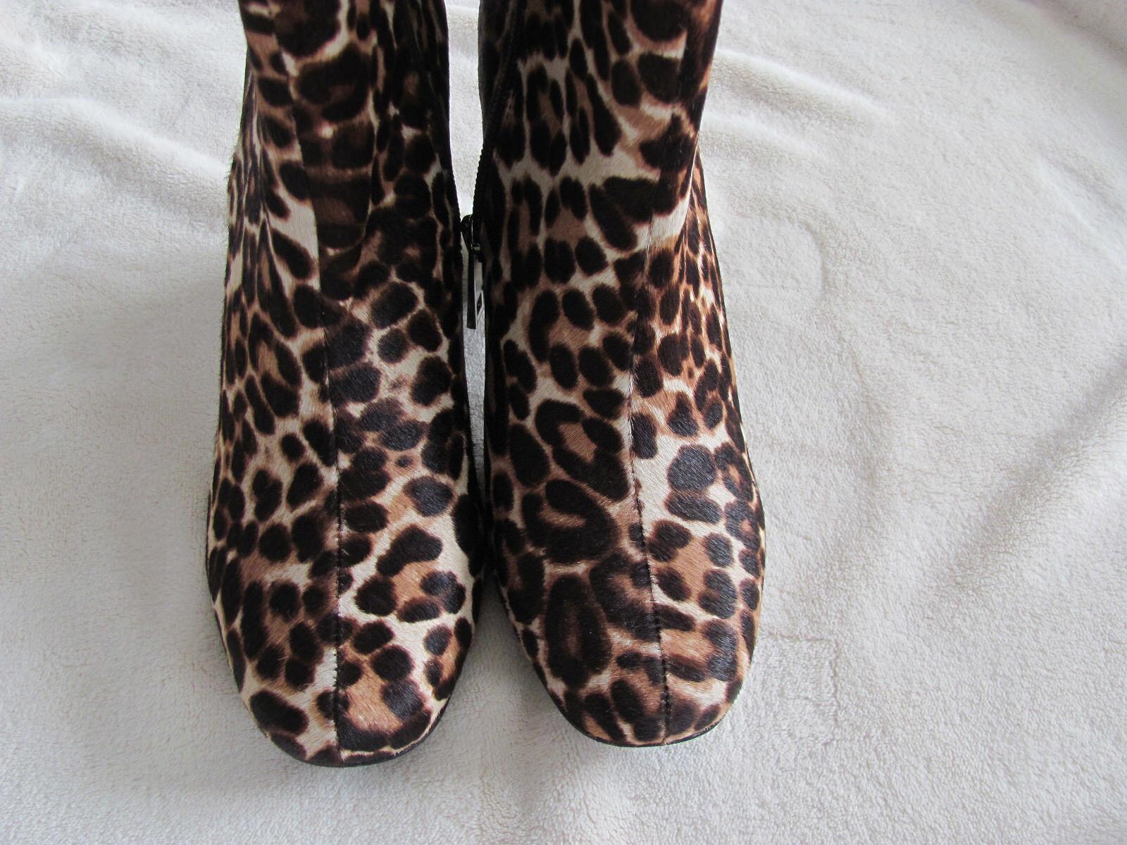 Charles David Studio Leopard Calf Hair Boot Bootie-Side Zipper NIB - Größe 8M - NIB Zipper bb68fa