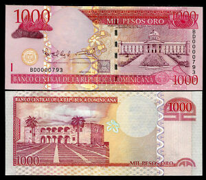 DOMINICAN-REPUBLIC-1000-1-000-PESOS-2004-P-173-LOW-SERIAL-UNC