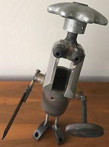 Fun Vintage Metal Robot Warrior Steampunk Sculpture Retro Art Mid Century Modern