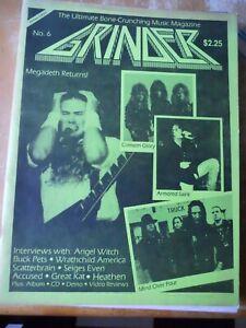 Vintage Grinder Magazine #6 Megadeath Returns Angel Witch Heathen Heavy Metal