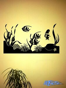 Wandtattoo-Aquarium-Fische-Wandaufkleber-Deko-Geschenkidee