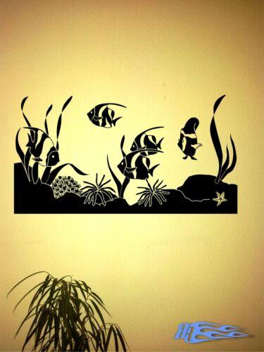 Wandtattoo Aquarium Fische oracal MATT Wandaufkleber Deko Geschenkidee