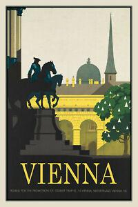 Vienna-Viena-Austria-Letrero-de-Metal-Arqueado-Cartel-Lata-20-X-30cm-CC0394