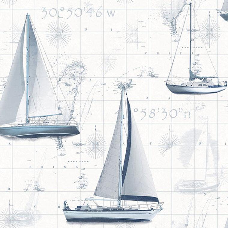 G56420 - Global Verschmelzung blau Stiefele Yachten Galerie Tapete