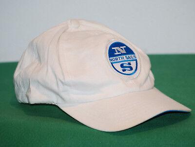 Fashion Style Vintage North Sails Cap Hat 5 Panel Compu Game Anni 80 90 Adjustable White
