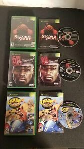 Lot-3-Original-Xbox-Games-Second-Sight-50-Cent-Bulletproof-amp-Crash-CIB-Tested