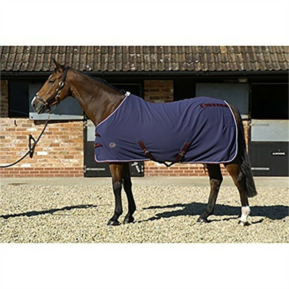 Jhl Fleece Rug(navy burgundy white, 6ft) - Rug  Horse Stable  order now with big discount & free delivery