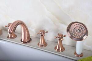 5 Hole Deck Mount Tub Faucet With Hand Shower.Details About Widespread 5 Hole Bathtub Faucet With Handshower Deck Mounted Roman Tub Faucet