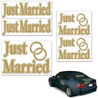 Just Married Auto Clings Send Off Bride And Groom, Honeymoon,wedding