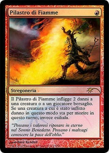 Pillar of Flame MTG MAGIC Ita FOIL PROMO FNM Pilastro di Fiamme
