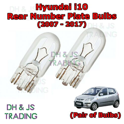 Hyundai i10 Rear Number Plate Bulbs Reg Plate Bulb Light Lights 07-17