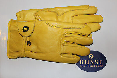 Autobus 705301 In Pelle Guanti Da Lavoro/leather Working Gloves, Foderato, Giallo-uhe/ Leather Working Gloves, Gefüttert, Gelb It-it