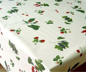 Image Is Loading By The Metre Washable TABLECLOTH COTTON 55 1