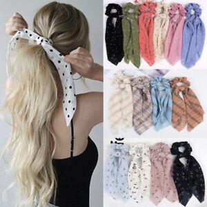 Damen-Chiffon-Bow-Haarseil-Haargummi-Zopfgummi-Haarband-Pferdesschwanz-Scrunchie