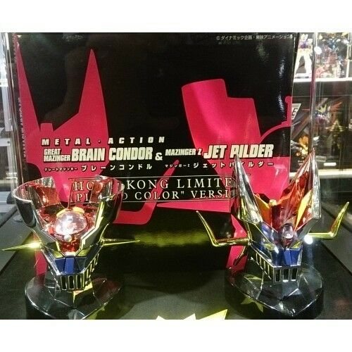 EVOLUTION TOY METAL ACTION GREAT MAZINGER Z JET PILDER BRAIN CONDOR PLATED
