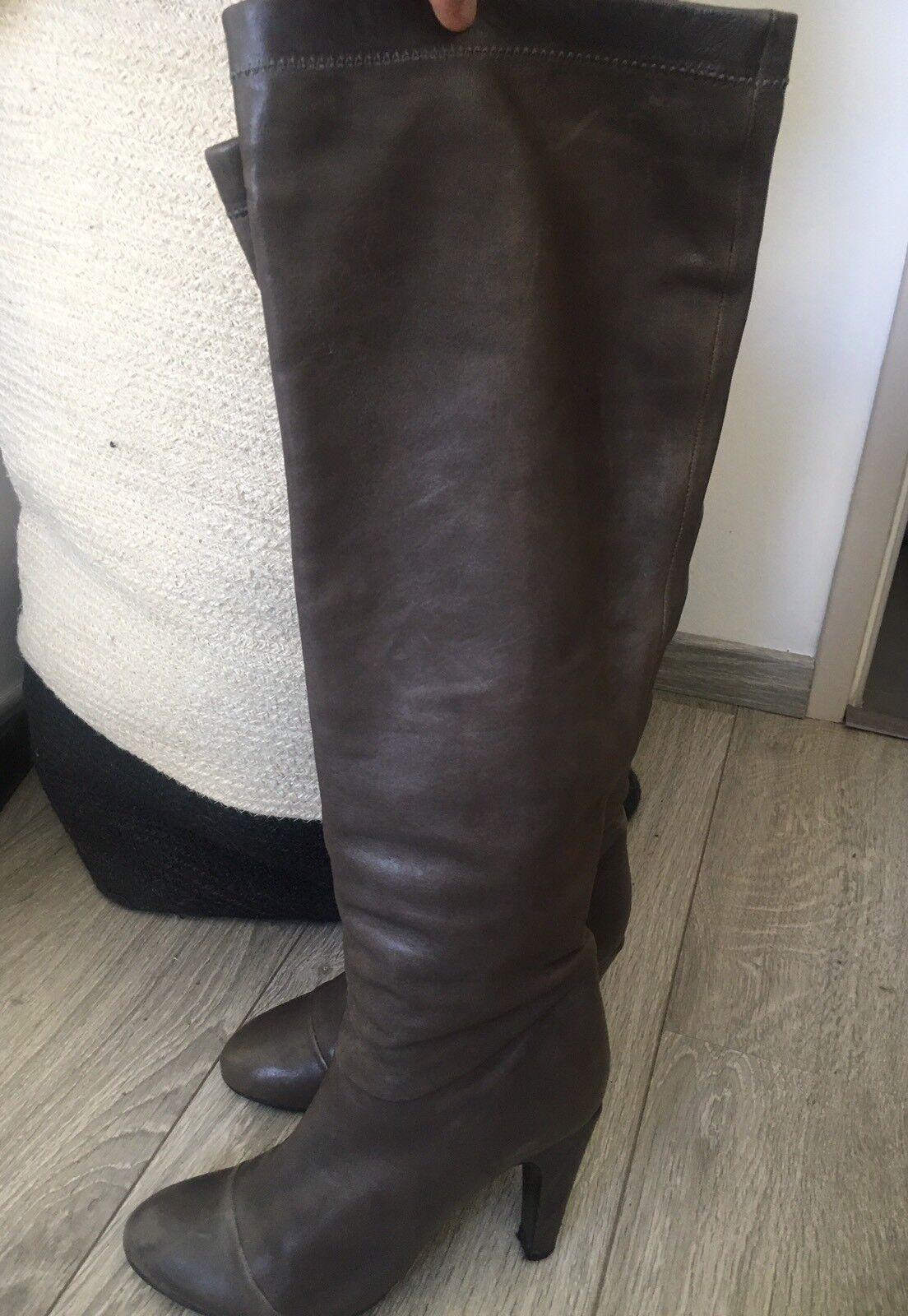 MARC JACOBS Bottes cuir cuir cuir gris 40 0dccf4