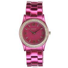 New DKNY Fuchsia Aluminum Band Crystals Women Dress Watch 32mm NY8309 $135