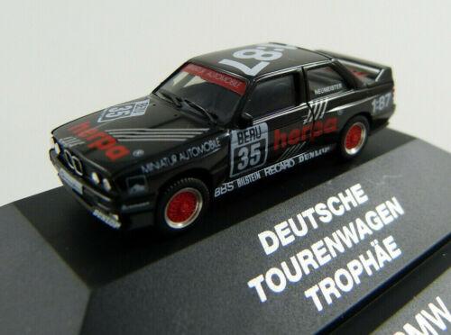 ba15 BMW m3 Deutsche trajet voiture Trophée Herpa 3528 in PC-Vitrine 1:87 h0 neuf dans sa boîte