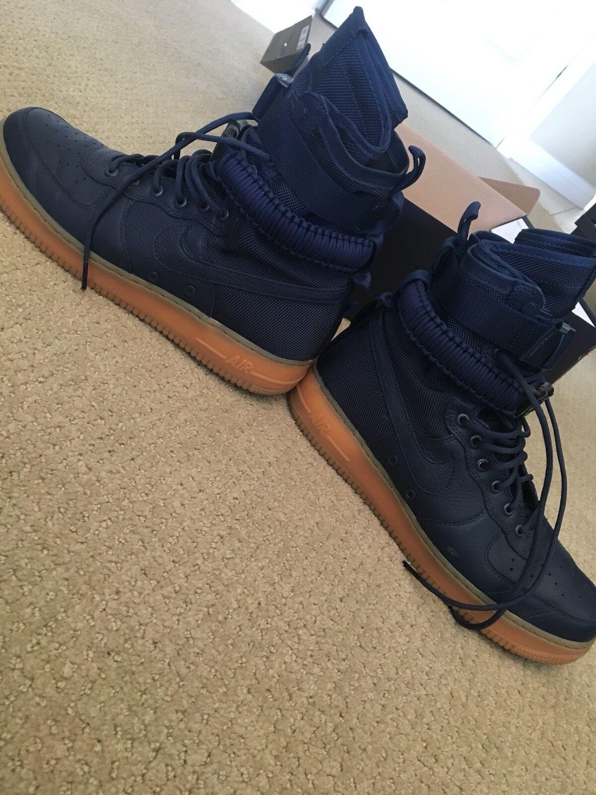 huge discount 0cf63 6abc5 ... Nike SF AF1 Air Force 1 Special Forces Midnight Midnight Midnight Navy  Gum 864024-400 ...