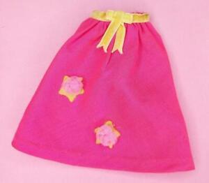Vintage-BARBIE-1861-MAKE-MINE-MIDI-1969-Hot-Pink-Skirt-VELVET-RIBBON-Excellent
