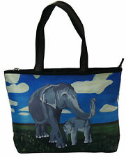 Elephant Handbag Tote Bag by Salvador Kitti - Support Wildlife Conservation