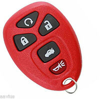 Best Replacement Keyless Entry Remote Start Key Alarm Transmitter For Gm Red