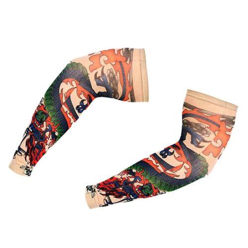 2pcs Nylon Fake Temporary Tattoo Arm Sleeves Arm Stockings Chinese style