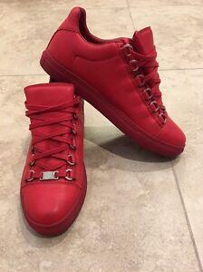 BALENCIAGA Low-Top Sneakers, Red, 38 EU