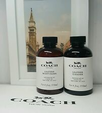 Coach Signature Leather Cleaner And  Moisturizer.  4.0oz each Brand New