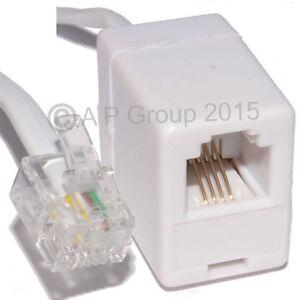 50cm Rallonge Rj11 Mâle / Femelle Modem Routeur Internet Haut Débit Adsl Blanc-afficher Le Titre D'origine Vvwy3t7s-07184729-899689321