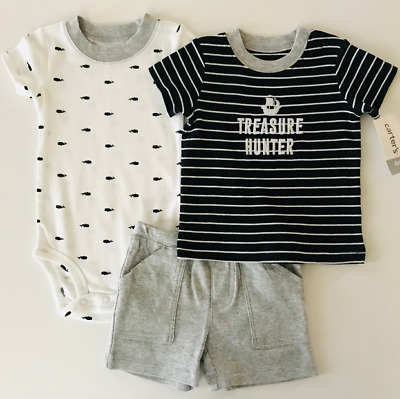 Carters Baby Boy Summer Clothes 6 Months Bodysuit Shorts ...