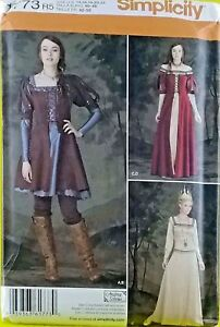 New-Medieval-Woman-Queen-Sewing-Pattern-Dress-Gown-Crown-Simplicity-1773-14-22