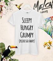 Sleepy Hungry Grumpy t shirt tee unicorn unisex tumblr zoella celine paris wake