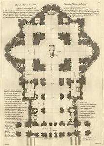 Plan-Eglise-Saint-Pierre-Rome-Roma-Vatican-Architecture-Gabriel-Dumont-Folio-18e