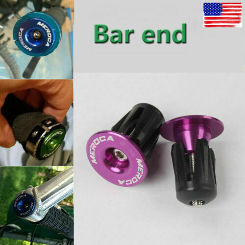 1 Pair MTB Cycling Bike Bar End Plugs Bicycle Lock-on Aluminum Alloy 22.2-25.4mm