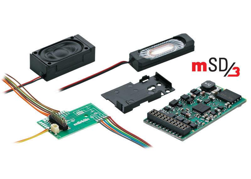 Märklin h0 60977 Sound Decoder msd3 21 PIN  per elektroloks  NUOVO + OVP