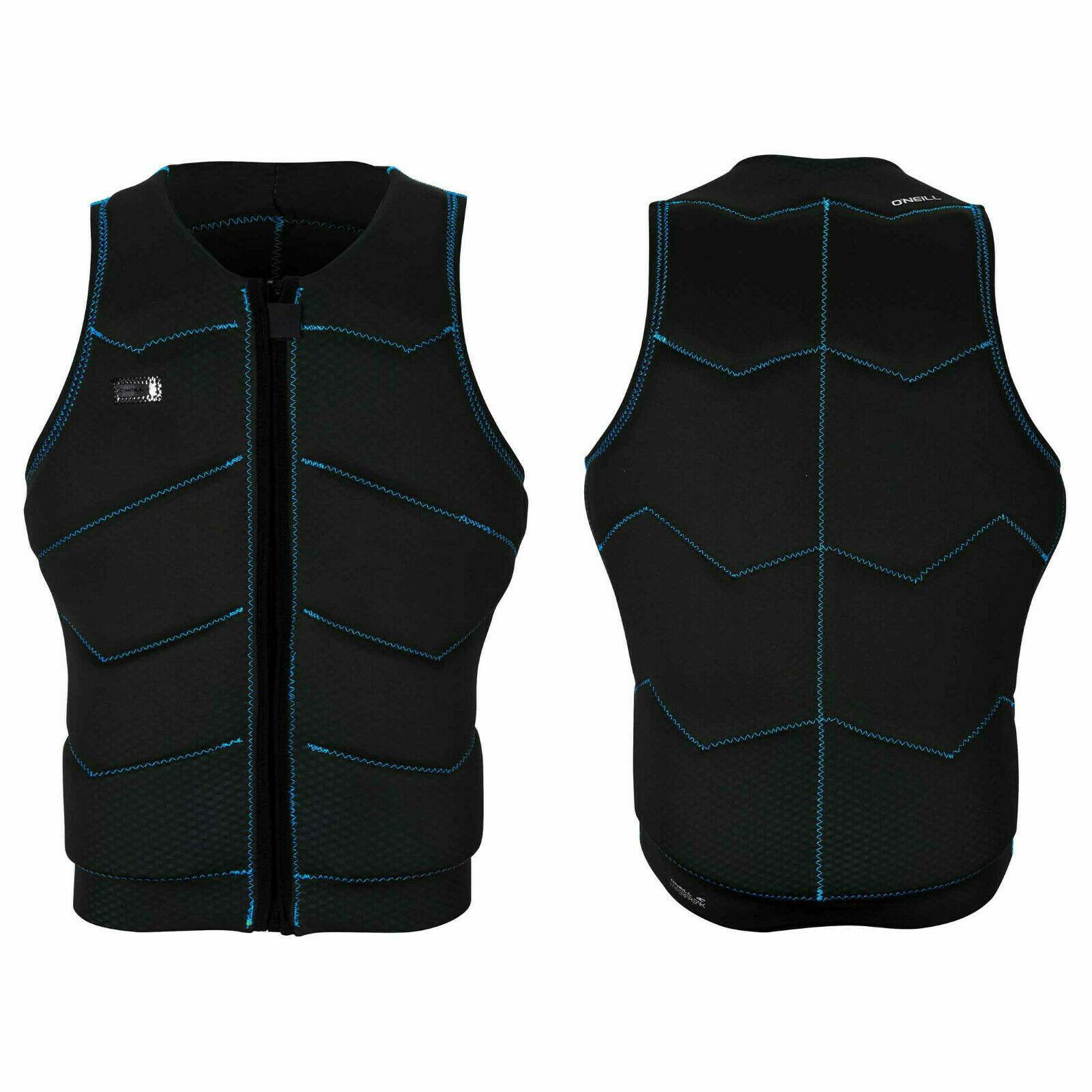 2019 O'Neill Hyperfreak Comp Vest, Fade blauw, zwart