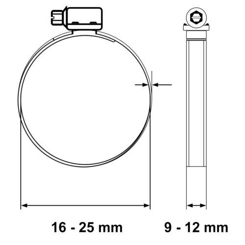 Schlauchschelle Rohrschelle DIN3017 Schlauchklemme Binder Rund Rohr Schlauch