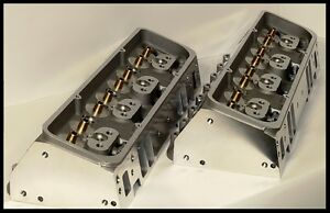 Details about SBC CHEVY 400 406 NKB ALUMINUM HEADS 64cc CHAMBERS 200cc  NKB-BARE-STEAM HOLES
