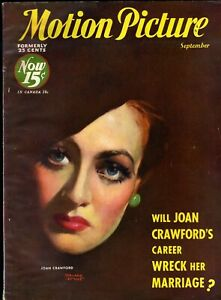 MOTION PICTURE magazine • Sept. 1932 • JOAN CRAWFORD cover by MARLAND STONE
