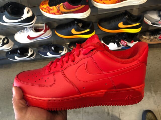 Nike Men's Air Force One 1 Low 07 LV8 Triple Red CW6999 600