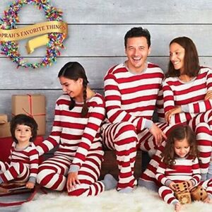 Family Matching Clothes Christmas Xmas Adult Kids Pajamas Set Sleepwear Homewear
