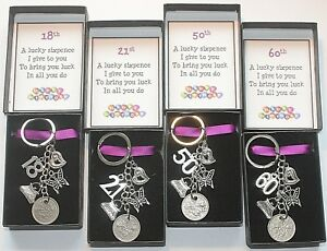 Sixpence-Keyring-Keepsake-Gift-Happy-Birthday-18th-21st-30th-40th-50th-60th-etc
